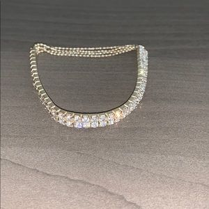 Icing stretchy cubic zirconia dress bracelet
